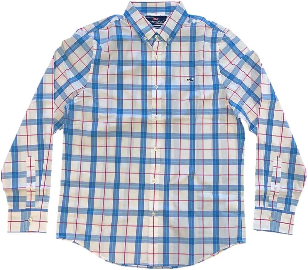 Vineyard Vines Men's Don't miss the campaign Slim Fit Whale Dress Shirt Button Down Shir Low price