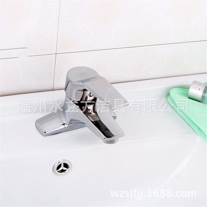 ETERNAL QUALITY Badezimmer Waschbecken Wasserhahn Messing Hahn Waschraum Mischer Mischbatterie Tippen Sie auf Chrom - Kupfer Doppelloch Waschbecken Waschbecken Kaltes Wasser. Küchenspüle Armaturen
