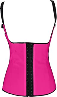 Women's Latex Underbust Waist Training Shapewear Corset Postpartum Support Red S