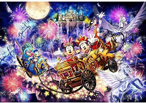 qfafz DIY 5D Diamond Painting Cartoon Mickey Mouse Y Donald Duck Mosaico De Punto De Cruz Regalo Hecho A Mano Decoración del Hogar 40X50Cm