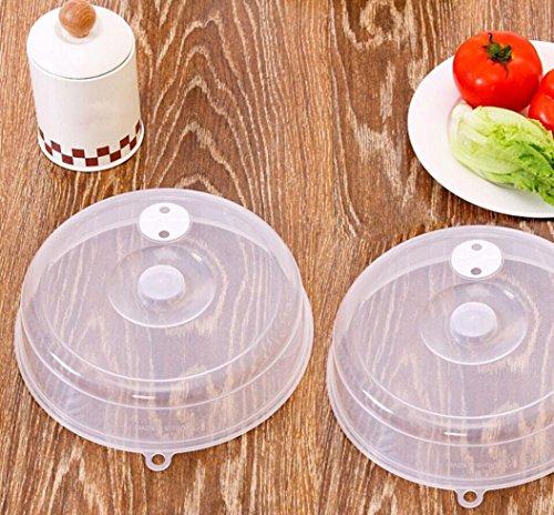 Ouneed Microwave Cover, 1 Stück PP Lebensmittel Deckel Mikrowelle Öl Deckel Beheizte versiegelte Abdeckung Multifunktionale Staub Dish Küche Werkzeug (23 * 23 * 5.5cm)