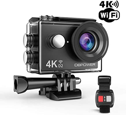 $33 Get DBPOWER 4K Action Camera 12MP Ultra HD Waterproof Sports Cam with Built-in WiFi 170 Degree Wide Angle Lens 2 Inch LCD Screen Plus 1050mAh Rechargeable Battery