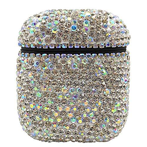 Draadloze hoofdtelefoon shell met diamanten jas, PC Case Cover Voor Airpods Cover Apple Bluetooth