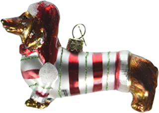 Kurt Adler 3-1/2-Inch Noble Gems Glass Daschund Ornament (YAMNB0313)