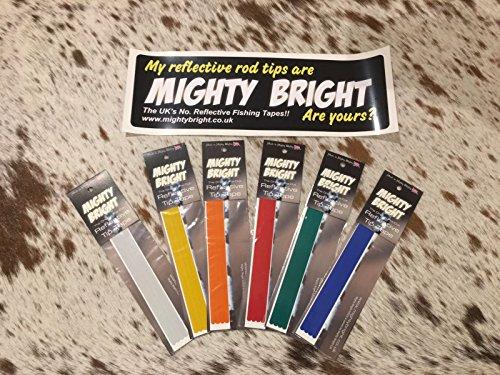 Mighty Bright - Cinta Reflectante para caña de Pescar (305 mm), Color Naranja