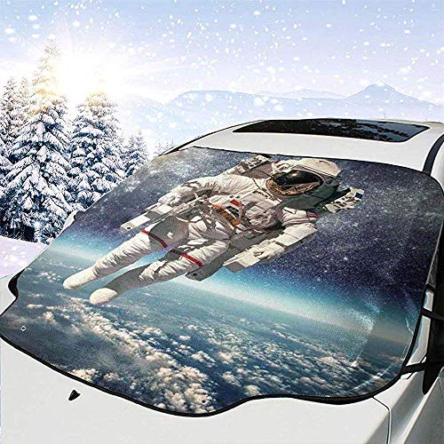 Night-Shop Astronaut schwebt im Weltraum mit Planet Erde Globus surreale Schwerkraft Bild Weltraum Art Car Front Windschutzscheibe Cover