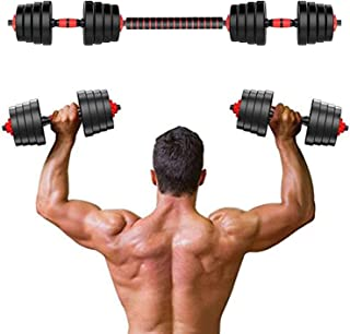 10/15/20kg Adjustable Weights Dumbbells Set Fitness Dumbbells Set for Men and Women with Connecting Rod Can Be Used As Bar...