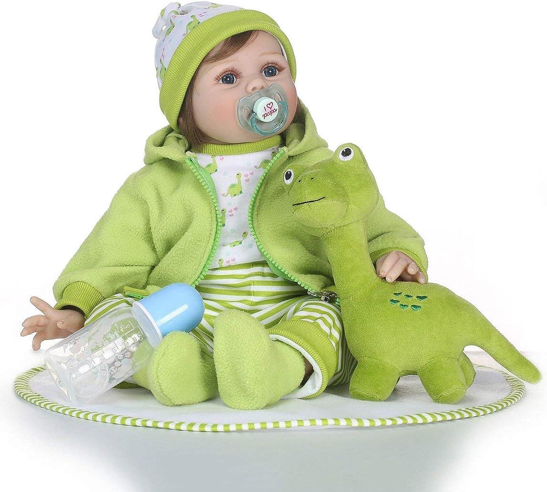 Reborn Babypuppe 21 Zoll Simulation weiche Silikon Baby Doll lebensechte Neugeborene Babypuppe Spielzeug Reborn Babypuppe Playmate Geschenk Spielzeug Puppe B07L1SGBVX Mittlere Kosten  | Ich kann es nicht ablegen