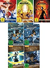 Die Legende von Korra, Buch 1 und 2 (1.1.-2.2) und Avatar - Herr der Elemente 1-3 im Set - Deutsche Originalware [17 DVDs]