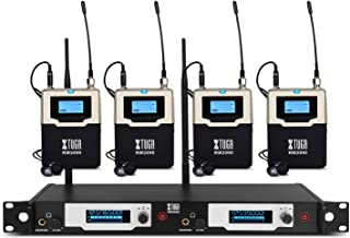 $379 » XTUGA RW2090 Double Channel Wireless in-Ear Monitor System Metal Receiver with Detachable Antenna Used for Stage or Studio (4 RECEIVERS)