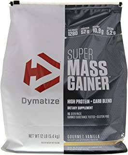 Dymatize Nutrition Super Mass Gainer, Gourmet Vanilla, 12-Pounds