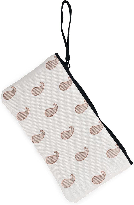 AORRUAM Stripe Paisley Canvas Coin Purse,Canvas Zipper Pencil Cases,Canvas Change Purse Pouch Mini Wallet Coin Bag