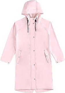 PLAER Rainfreem - Chubasquero con capucha para mujer, impermeable, ligero, para viajes, caminando, cortavientos