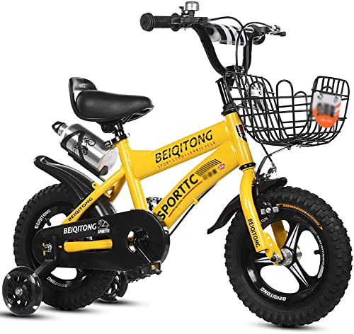 El nuevo outlet de marcas online. BAICHEN Estilo Libre Bicicletas para Niños Bicicleta para Niños 4 4 4 Colors,12 , 14 , 16 , 18  con Rueda de Entrenamiento, Botella de Agua y Soporte.Adecuado para Niños de 2 a 9 años,amarillo,12inches  punto de venta barato