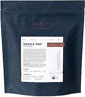Rishi Tea Masala Chai Black Loose Leaf Herbal Tea Blend | Immune Support, USDA Certified Organic, Spicy, Caffeinated, Citr...