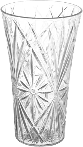 """popular Royal Imports Flower Acrylic Vase wholesale Decorative Centerpiece for Home or 2021 Wedding Non-Breakable Plastic - 11"""" Tall, 6"""" Opening - Clear outlet online sale"""