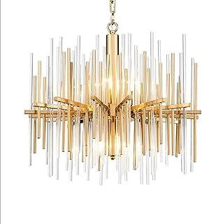 Home Equipment Crystal Rod Chandelier European Modern Luxury Villa Hotel Restaurant Living Room Dining Room Diameter 60cm ...