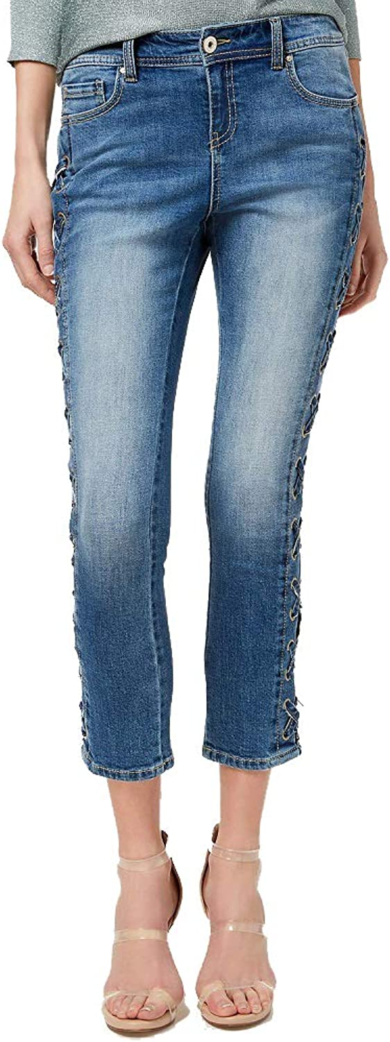 INC International Concepts LaceUp Skinny Jeans