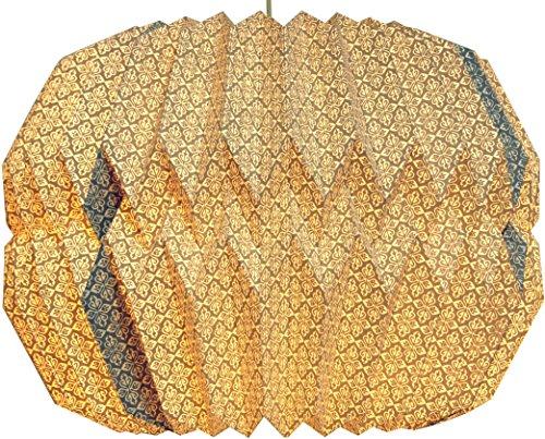 Guru-Shop Origami Design Papieren Lampenkap - Model Messina, 24x39x39 cm, Aziatische Plafondlampen Papieren Lampen Stof