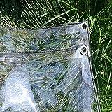 XUEYAN Espesar Lona Transparente Lona Impermeable PVC Transparente Plástico Cobertizo de Tela Invernadero Cubiertas de lámina Impermeable con Ojales, 400 g/m² (Tamaño : 2x6M)