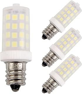 E12 led Light Bulb 120V 6000K Daylight White 5W 500LM Candelabra Screw Base, Halogen Bulb Replacement 15-50W, for Night Light, Refrigerator Light (Pack of 4)