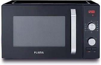 FLAMA 1837FL Microondas 23L Sin Digital. 9 Programas Automáticos, Función Descongelación, Temporizador hasta 95 Minutos, Interior Ceramica Enamel