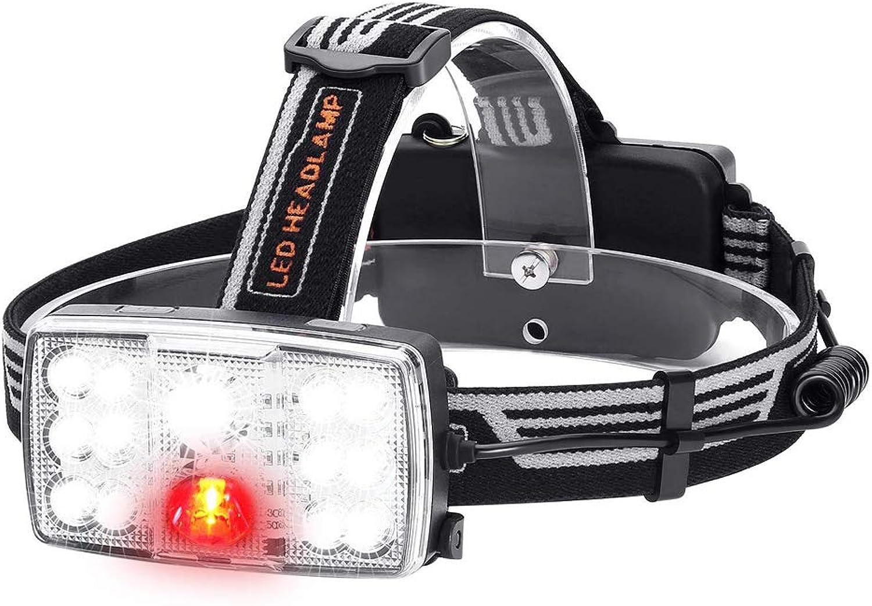 Zmsdt USB Charging Glare Outdoor Waterproof Night Fishing Headlights 14LED Headlights Red Light Warning Lights
