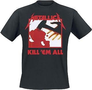 Metallica Kill 'Em All Hombre Camiseta Negro, Regular