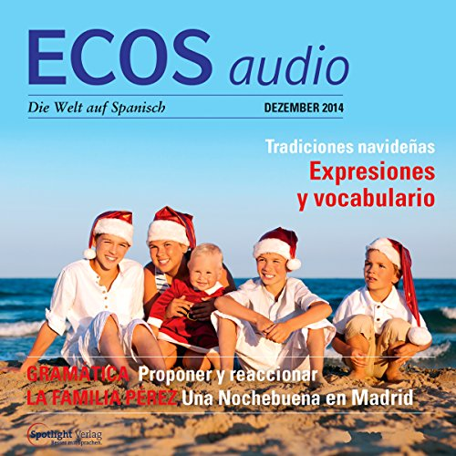 ECOS Audio - Tradiciones navideñas. 12/2014     Spanisch lernen Audio - Weihnachtliche Bräuche              By:                                                                                                                                 Covadonga Jimenez                               Narrated by:                                                                                                                                 div.                      Length: 59 mins     Not rated yet     Overall 0.0