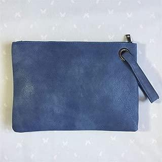 Fashion Solid Handbag Women's Clutch Bag Leather Women Envelope Bag Zipper Evening Bag Female Clutches Handbag