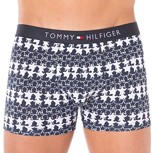 Tommy Hilfiger Flag Trunk Star Boxer, Multicolore-Mehrfarbig (Parisian Night-PT 070), Small Homme