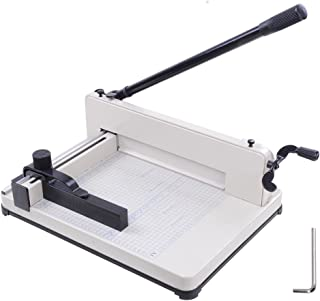 """Yescom 400 A4 Sheet Capacity, 12"""" Cutting Length Industrial Guillotine Paper Trimmer Cutter Stack Heavy Duty Steel Base"""