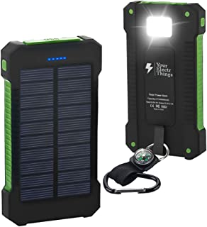 Your Electr Things Solar Power Bank Charger 20000mah, Portable Charger Power Bank with Dual USB and High LED Light Waterpr...