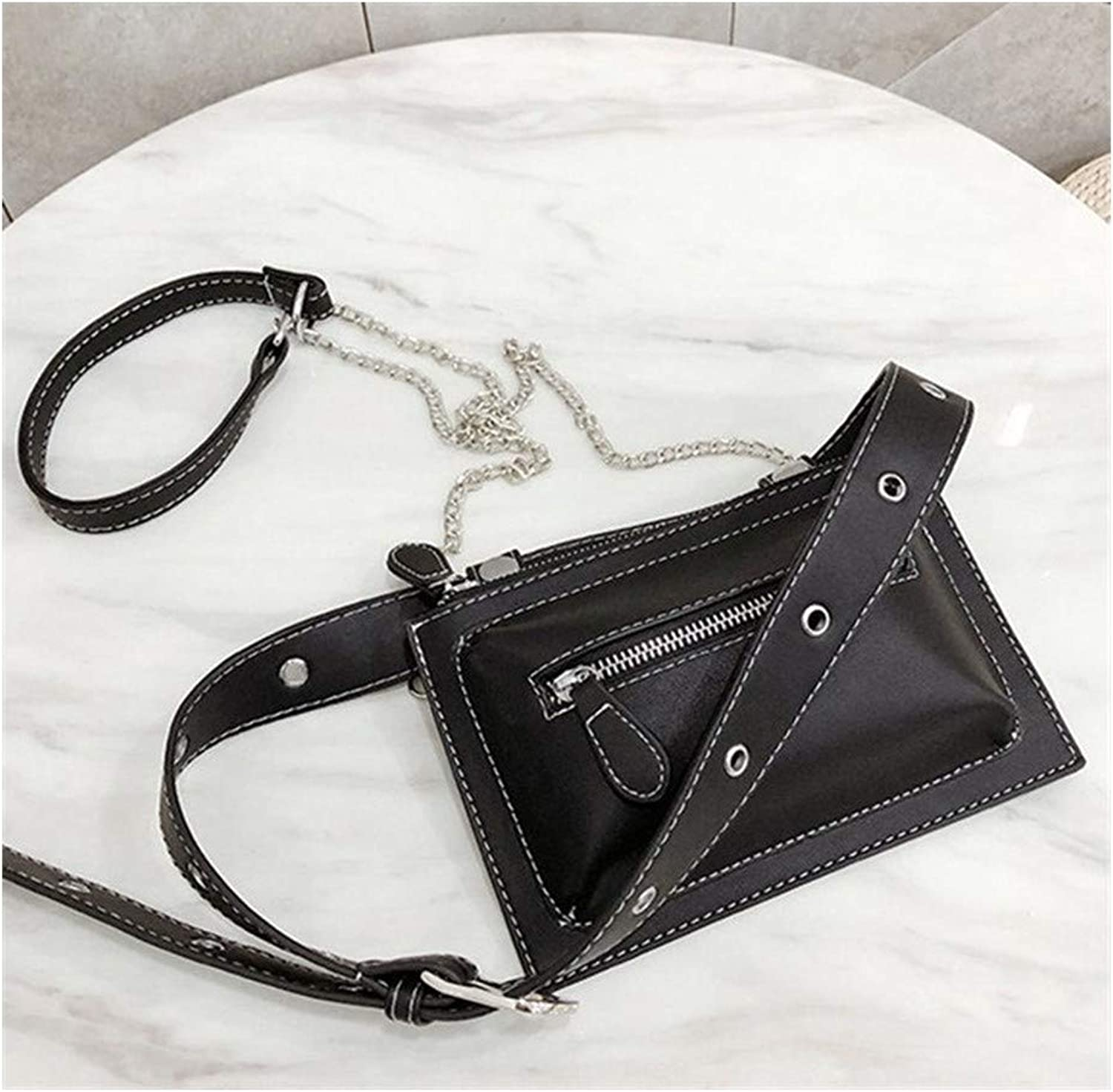 Waist Pack Fashion Women Waist Bag Pu Leather Fanny Pack for Female Girl Travel Belt Bag Newest Chest Bags Chain Shoulder Bag