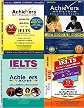 Combo 4 Achiever IELTS Books, 9 Bands 4 in one for Speaking, Writing of General, Academic Training, IELTS Listening and Reading Practice Set with Answer Keys, Sure Shot IELTS Speaking and Writing Exam