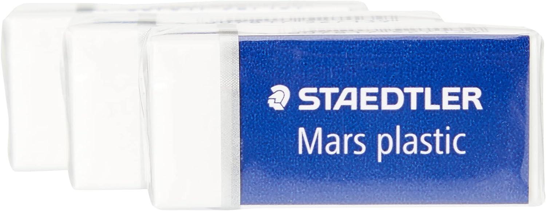 STAEDTLER Denver Mall 52653ABK3D Regular discount Mars Plastic Mini White 3 Pack erasers of