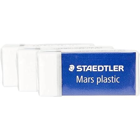 Staedtler Mars plastic 526 53 Gomma, 40 x 19 x 13 mm, Confezione da 3