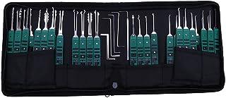 Moli Various Lock Pick Tool Set,Locksmith Tool Lock Pick Kit Open Lock,Repair Lock,Extractor Broken Key Tool (32pcs Tools)