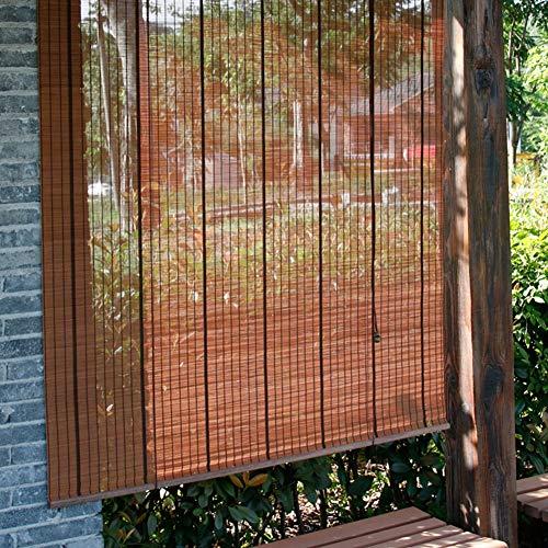 FF Estores enrollables Persianas enrollables de bambú para Ventanas de la Sala de té, Cortinas oscilantes del Rodillo del Gazebo para jardín con Accesorios, Ancho 70/85/100/110/135 / 150cm