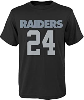 Outerstuff Marshawn Lynch Oakland Raiders #24 NFL Youth Mainliner Player T-Shirt Black