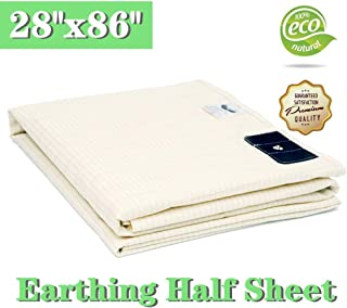 Earthing Half Sheet 28x86in Silver Conductive Grounding Mat EMF Protection Reduces Inflammation and Pain