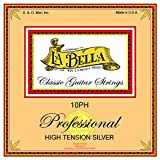 La Bella 10PH High Tension Silver/Clear Nylon+Silver Plated