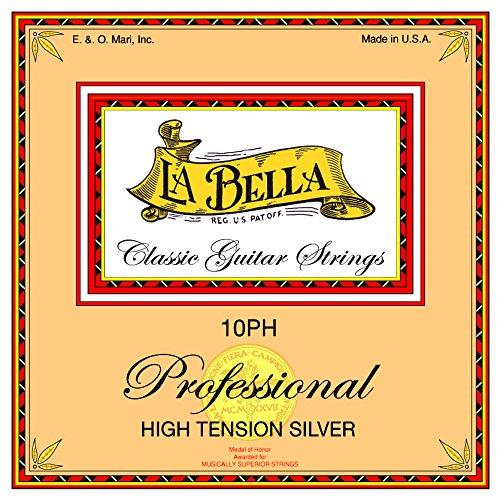 La Bella Professional 10PH, Saiten für klassische Gitarre, High Tension, silber
