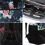 Ela Mo's Rucksack Damen | Schön und Durchdacht | für Uni Reisen Freizeit Job | mit Laptopfach & Anti Diebstahl Tasche | Blumen - 4
