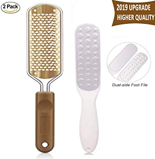 Colossal Foot Rasp and Dual Sided Foot File, Corns Callus Remover for Feet, Foot Care Pedicure Metal Surface Tool To Remove Cracked Dead Skin, Premium Stainless Steel File Foot Scrubber(Copper)