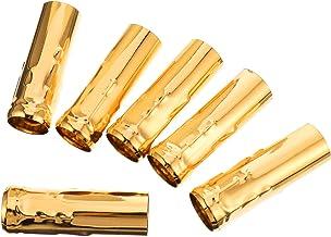 Lurrose 6 capas de soquete para vela, soquete de base de vela de substituição vintage para lustre (dourado 1)