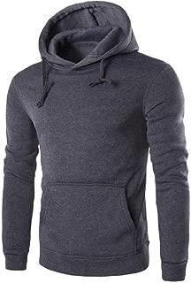 MogogoMen Hoodie Long Sleeve Pockets Plus-Size Classic Hooded Sweatshirt