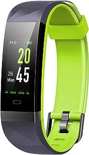comprar comparacion Monitor de actividad Lintelek con pantalla a color, IP68 impermeable, monitor de ritmo cardíaco, contador de calorías, pod...