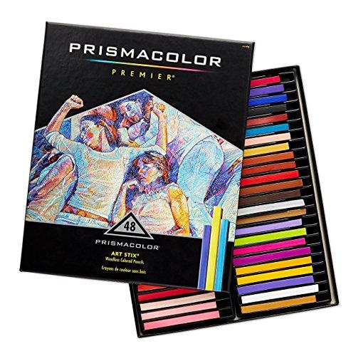 Prismacolor 2165 Premier Art Stix Woodless Colored Pencils, 48-Count,Assorted