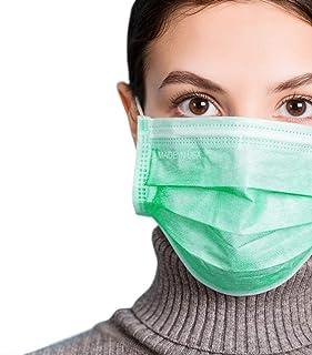 3-Ply Breathable Disposable Face Mask (Mint Green) - Made in USA - Comfortable Elastic Ear Loop | Non-Woven Polypropylene ...